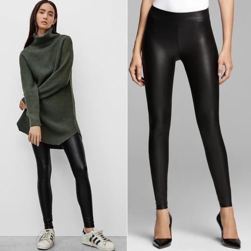 pantalon  leggins licrado tipo cuero cuerina