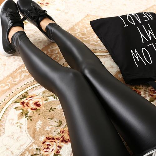 pantalon leggins tipo cuero  strech licra