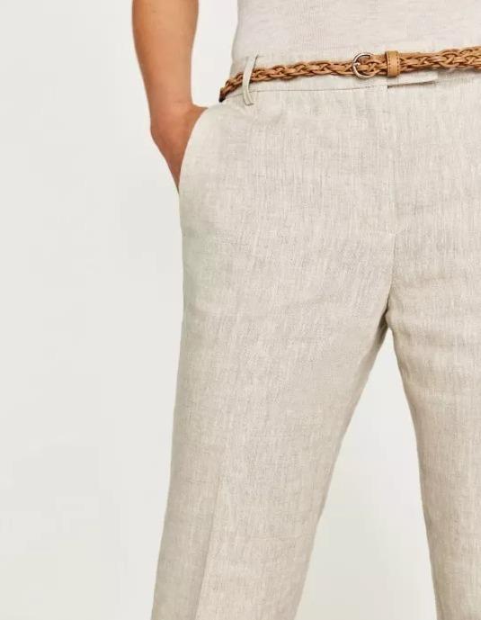 69f932bf1 Pantalon Lino Dama Beige Zara Fresco Mujer Envio Gratis -   640.00 ...
