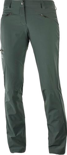 pantalón masculina salomon - wayfarer pant w verde - hiking