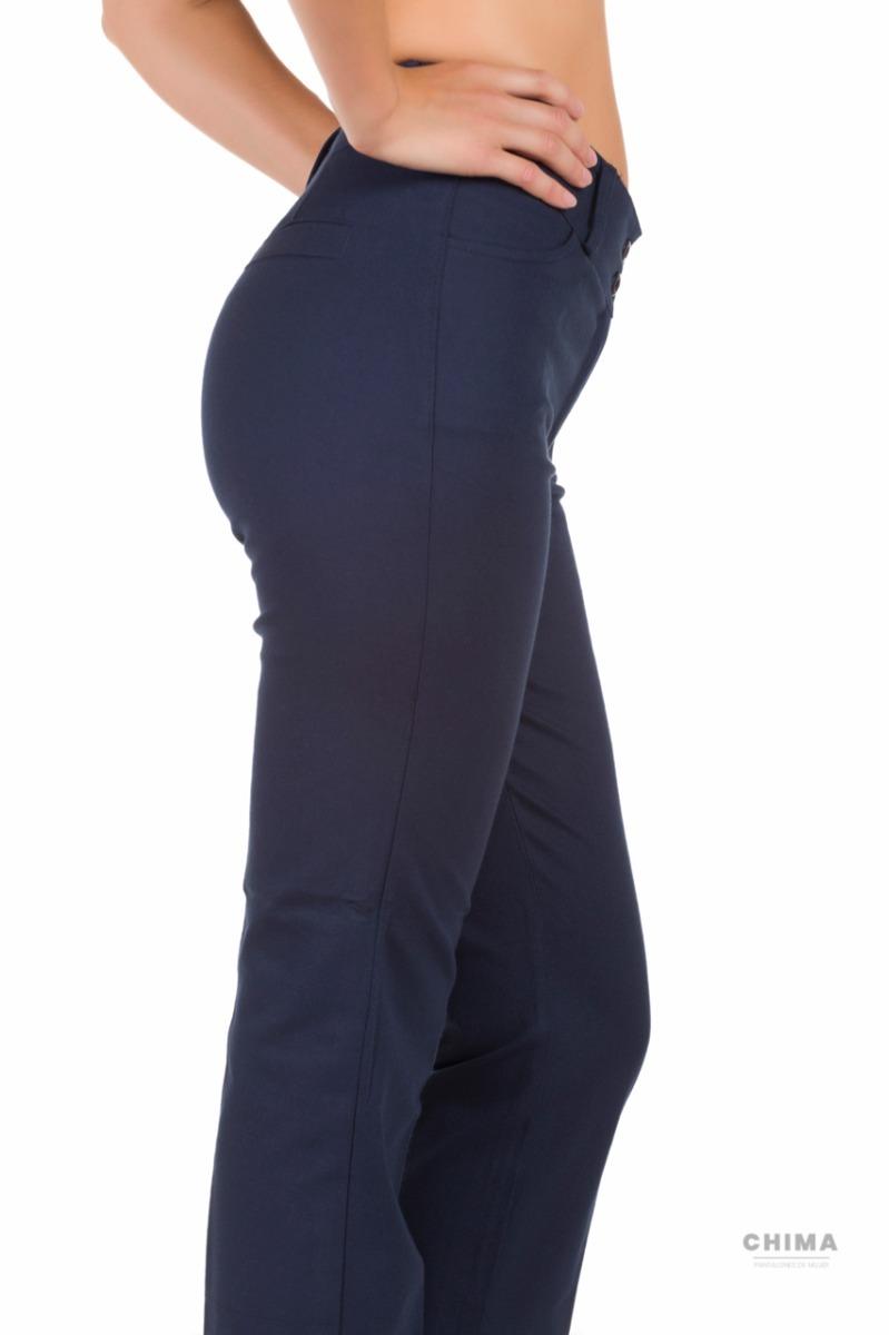pantalón medio recto de mujer - tela gabardina - chimasoho. Cargando zoom. a12b32206d24
