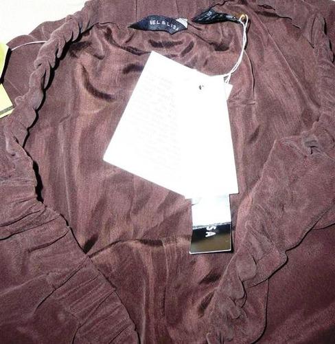 pantalón mel & lisa talla extra 1x cafe ropa modateista