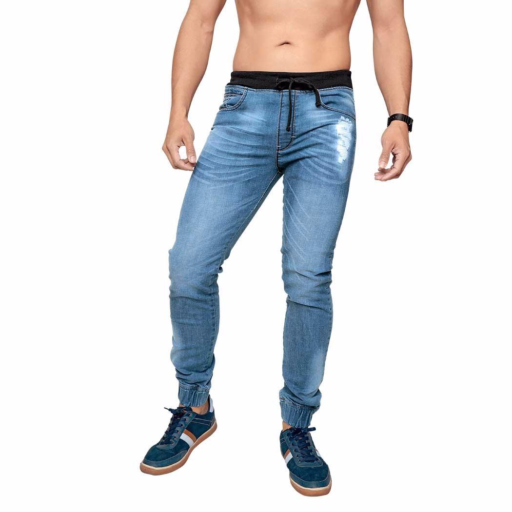 1ce34c862b0 pantalon mezclilla hombre jogger cardigan deslavado resortes. Cargando zoom.