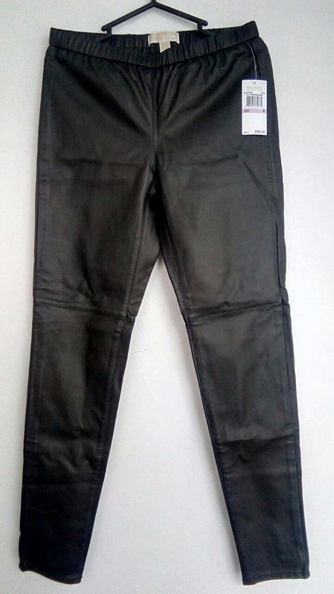 pantalón michael kors cuero negro nuevo original. Cargando zoom.