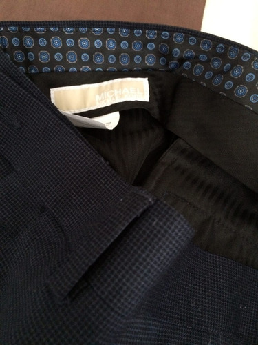 pantalon michael kors importado talla 33 x 30 colornavy/azul