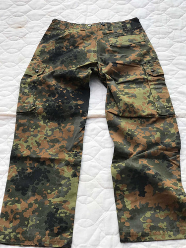 pantalón militar aleman flecktarn talla 40 s