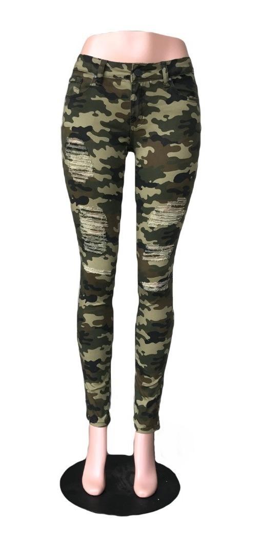 Militar Mujer Para Envío Pantalón Listo Roto Entubado 54jL3qcAR