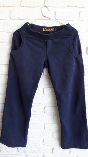 pantalon muaa jogging azul escolar talle 14 años