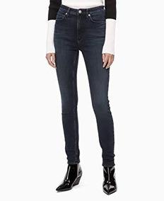Azul Calvin Marino Original Pantalon Klein Mujer PX0nkNw8O