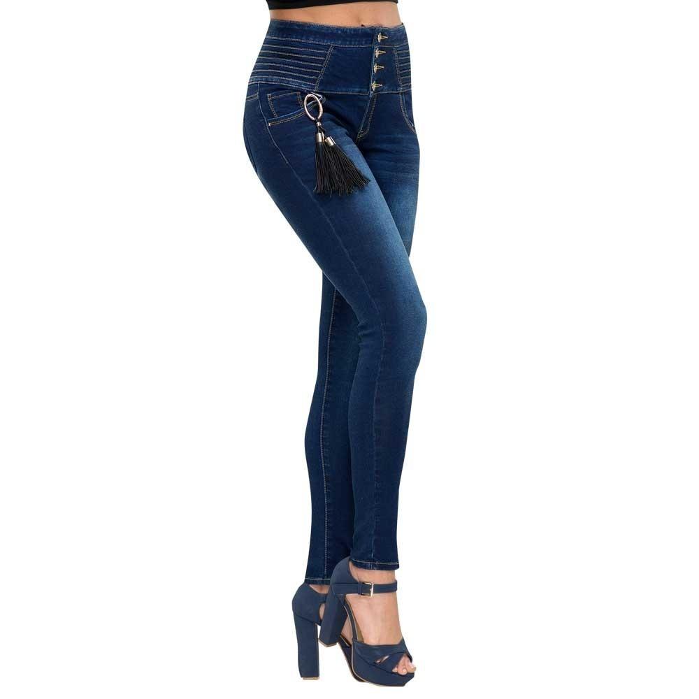 Pantalon Mujer Entubado Atmosphere Negro Mezclilla Co266 A ...
