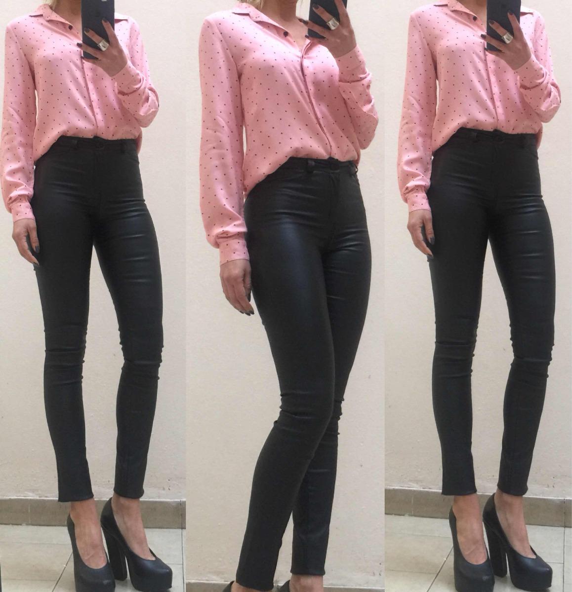 9b2c39cfe pantalon mujer vestir engomado tiro alto elastizado leggins. Cargando zoom.