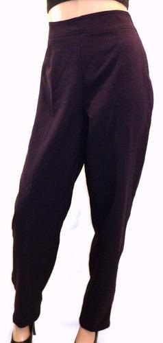 pantalón mujer vestir violeta talla 46 cierre costado