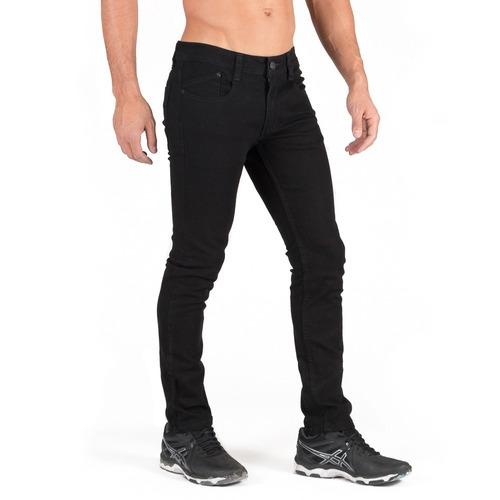 pantalón negro caballero skinny slim bolsa seccionada