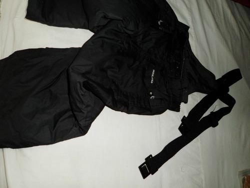 pantalon   negro  con tiradores  de ski