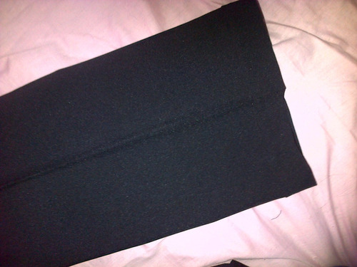 pantalón negro de fina gabardina t-l elegante y ejecutivo!