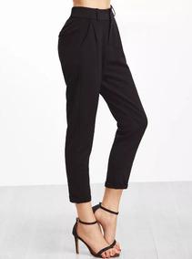 2145d89d0360 Pantalon Negro De Vestir Casual Vintage