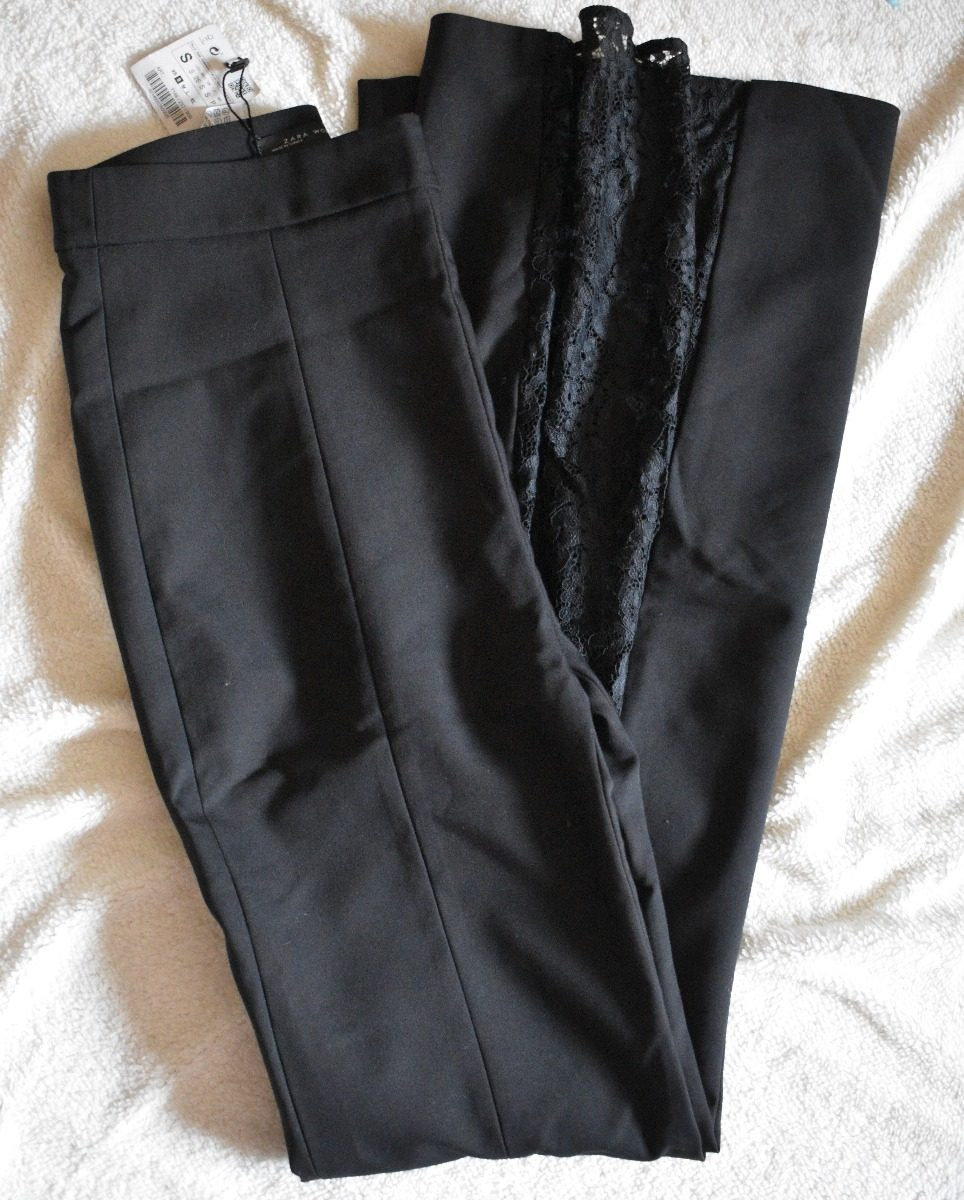 Cargando Zoom Negro Oxford Zara Nuevo Encaje Pantalón Importado YA60xvwxn 8168b0daeb0c
