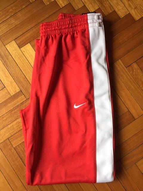 brillante n color diseño de variedad En liquidación Pantalon Nike Basket Botones Desmontable Laterales Hombre L