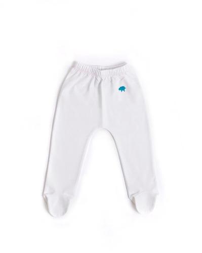 pantalon niña - blanco / costura rosada (0-3 meses)