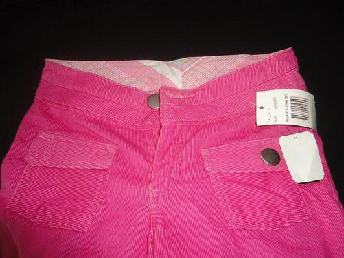 pantalon niña pana rosa marca  off corss   talla 8