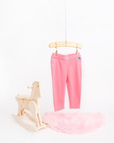 pantalon niña - tipo jean - strawberry pink (12-18 meses)
