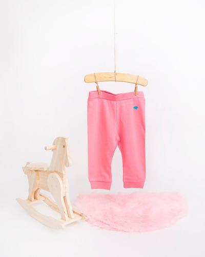 pantalon niña - tipo jean - strawberry pink (6-9 meses)