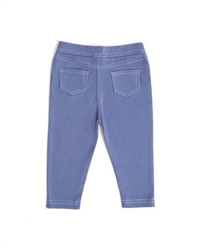 pantalon niña - tipo jean - vintage indigo (6-9 meses)