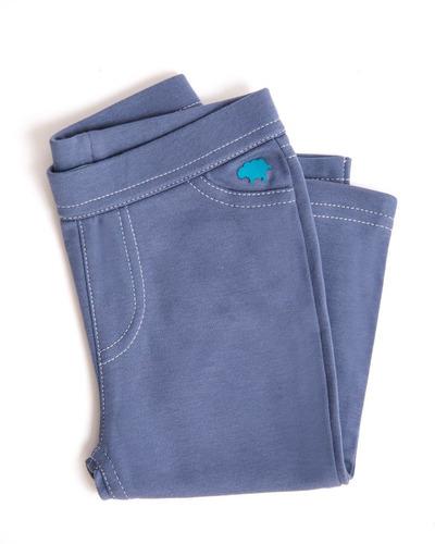 pantalon niña - tipo jean - vintage indigo (9-12 meses)