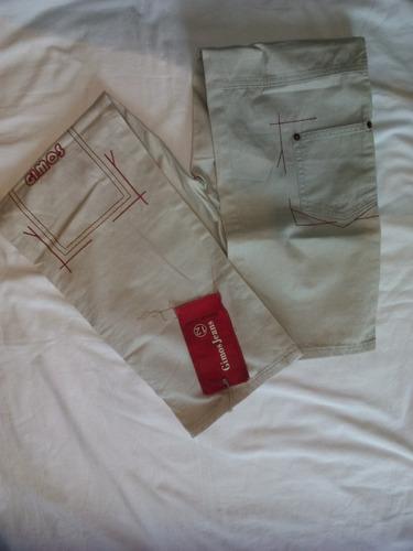 pantalon niño talla 12 color beis import gimos jeans wear