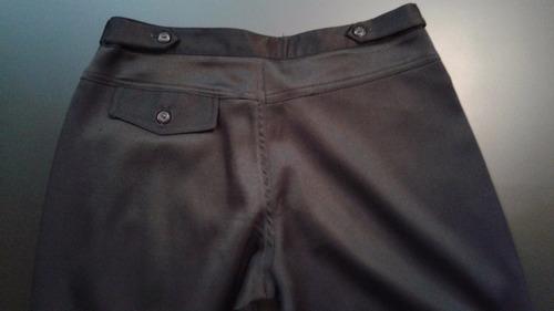 pantalón ona saez raso negro con tira t36 - impecable4