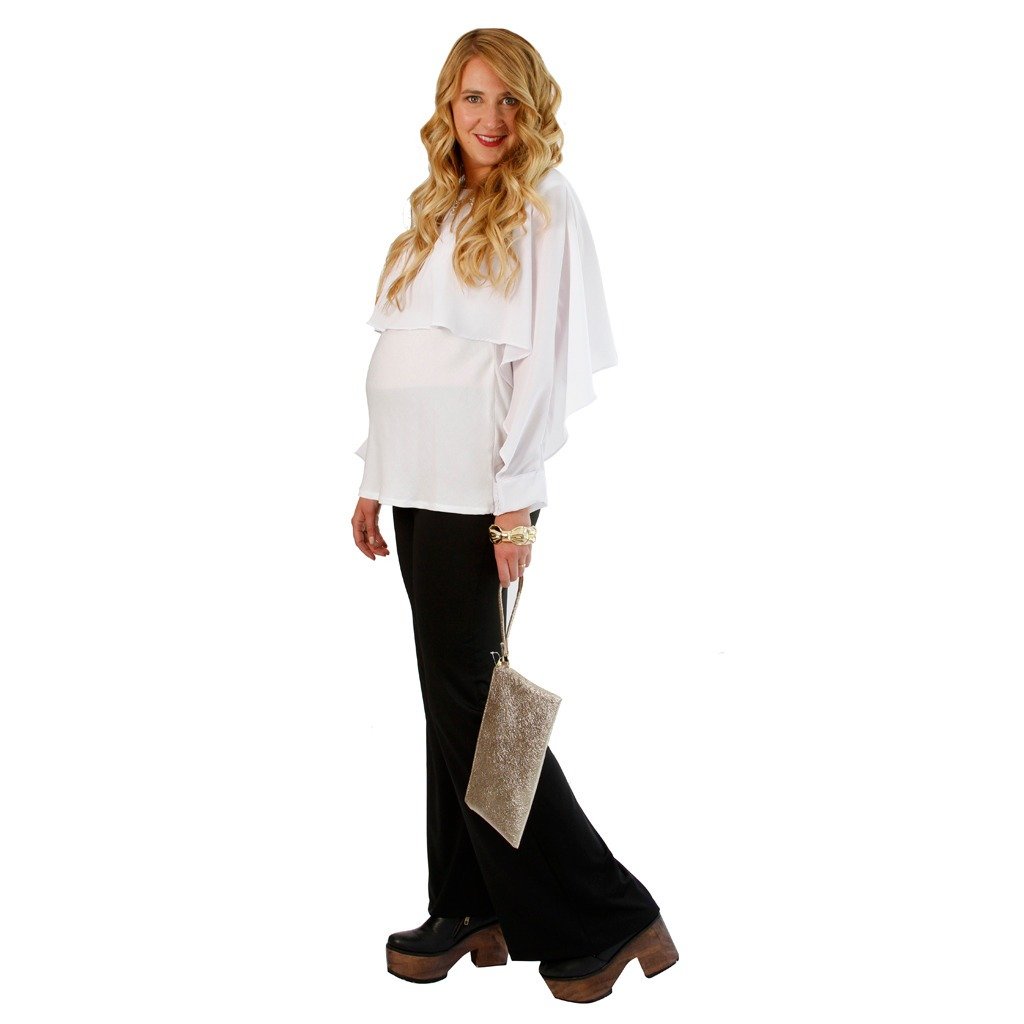 f13fcd698 pantalón palazo suplex para embarazada - ideal fiesta. Cargando zoom.