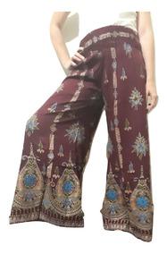3ef9ce040 Pantalon Palazzo Hindu Hippie Chic Tipo Rapsodia Talle U.