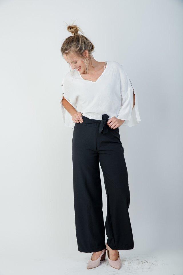 rebajas(mk) precios baratass productos de calidad Pantalon Palazzo Negro