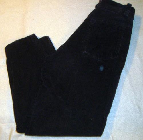 pantalon pana niño marca calipso negro talle p 10-12 años