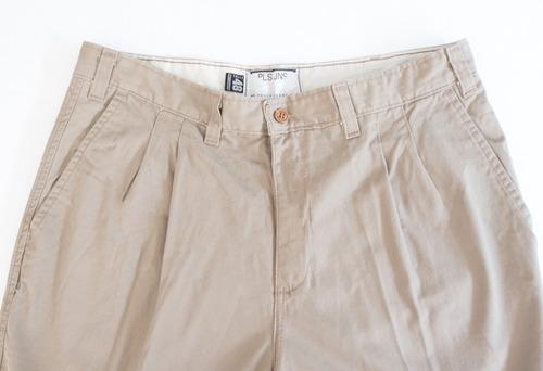 pantalon pinzado de gabardina de hombre