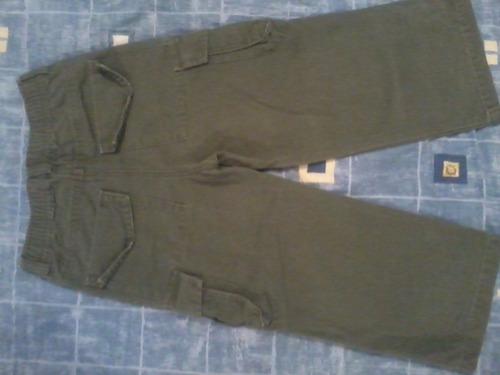 pantalon place verde, talla 4 niños