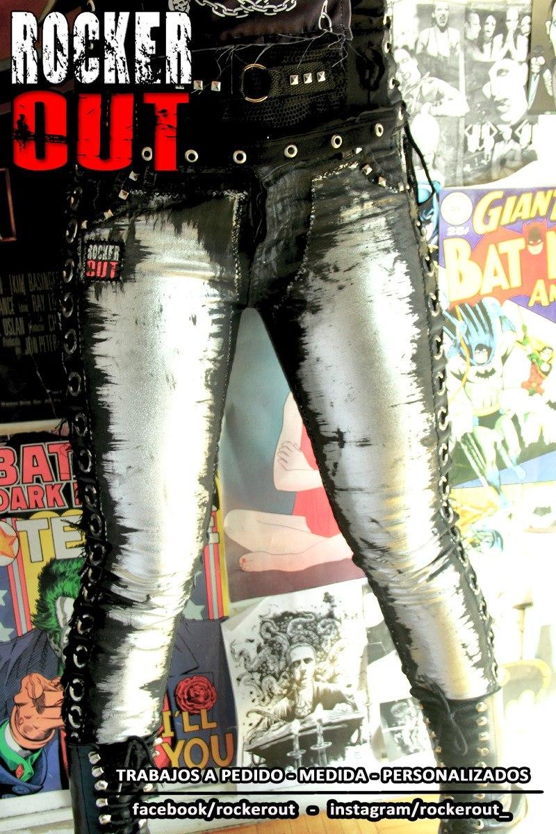 8894cfb0b5 pantalon plateado acordonado rocker out - hombre - mujer. Cargando zoom.