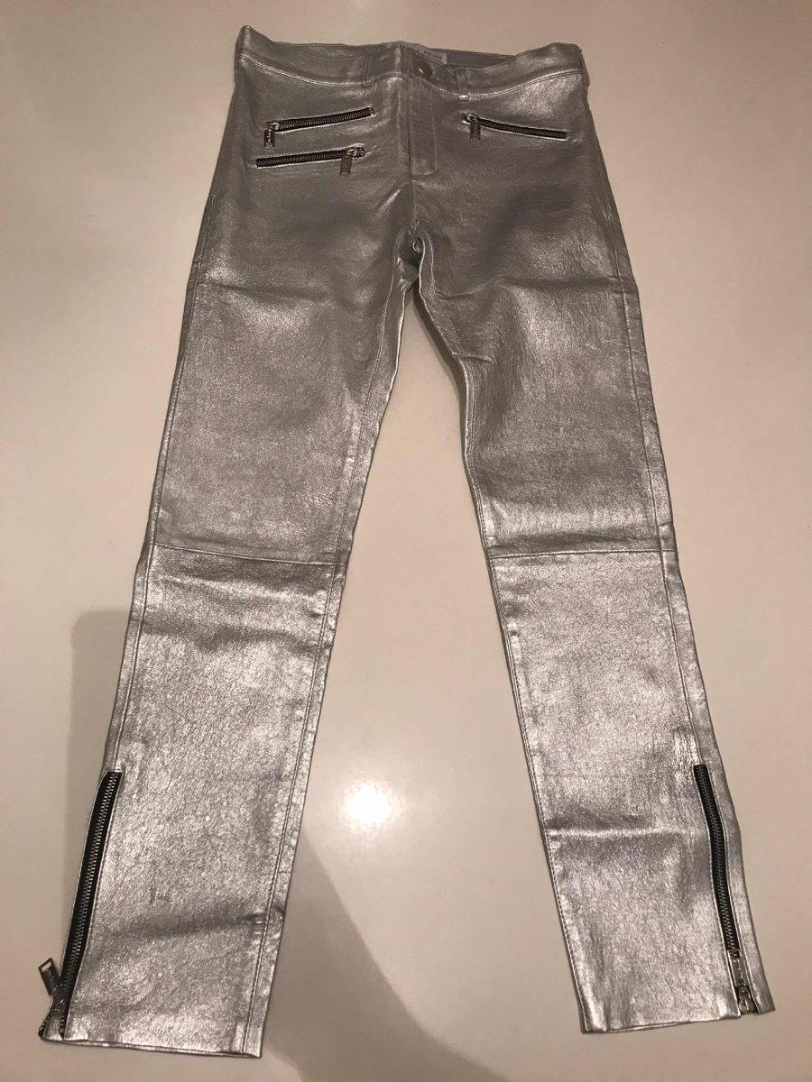 venta minorista 06710 d9dc0 Pantalón Plateado De Cuero De Mujer De Ginebra - $ 6.000,00