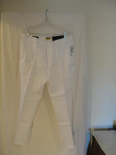 pantalon playero  lino talla 34w /29 l slim fit marca inc