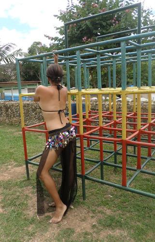 pantalón playero malla ropa playera gimnasio  danza árabe