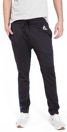 pantalon prf side slim negro hombre le coq sportif