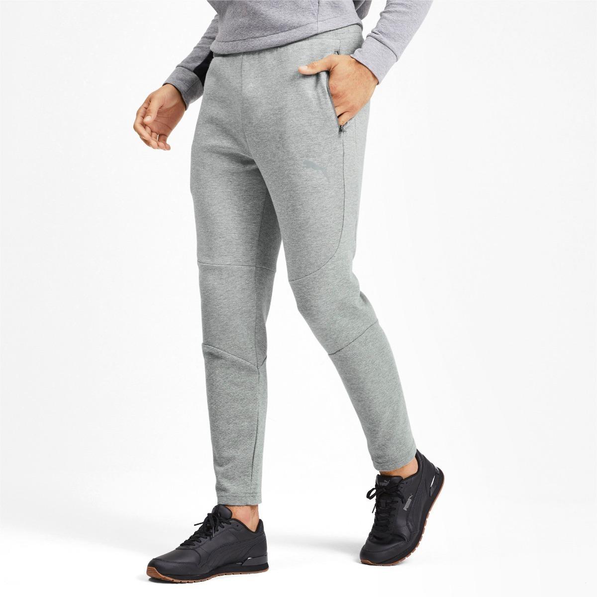 Pantalon Puma Evostripe Gri De Hombre