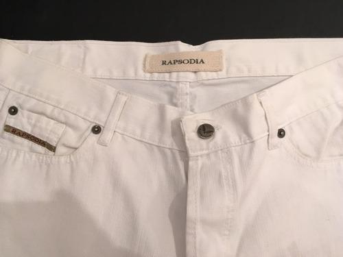 pantalón rapsodia blanco y jazmín chebar