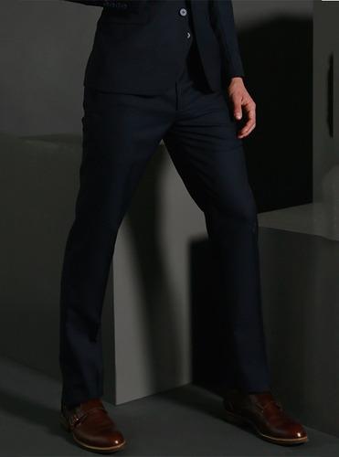 pantalón raya marino galo bertin