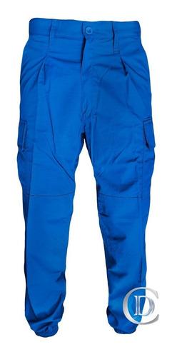 pantalón ripstop fajina diseño clásico azul francia