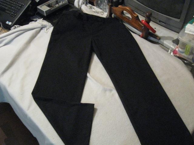 W32 Negro12 L30 Heusen Talla Color Pinzas Van Pantalon Sin 000 OP0nwk
