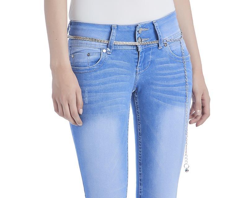 15fec0a71e pantalón skinny fit azul para mujer boy london pr-3120132. Cargando zoom.