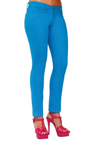 pantalon skinny stretch rumbo color azul