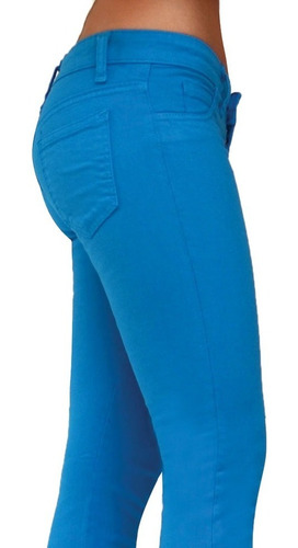 pantalon skinny stretch rumbo color azul