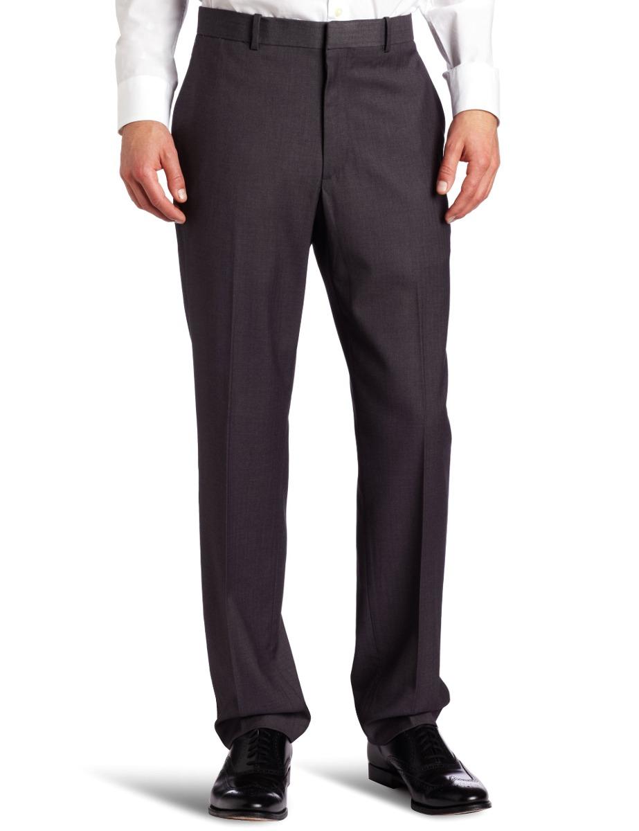 d6c9053de0e1c Pantalón Slim Fit En Espiga Para Hombre Perry Ellis